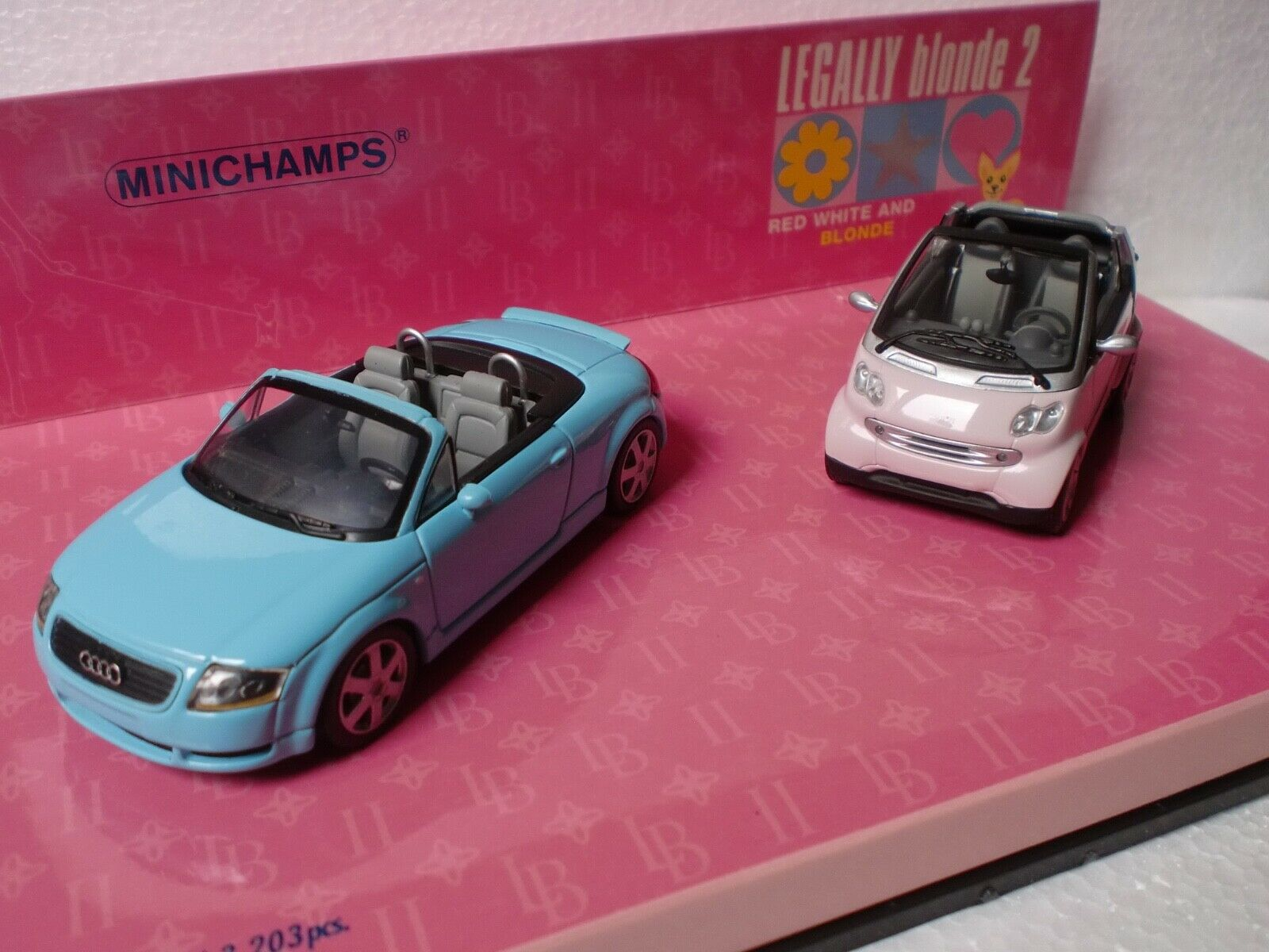 MINICHAMPS 1 43 - SET LEGALLY BLONDE 2I TT CABRIO + SMART CABRIO 402 173900