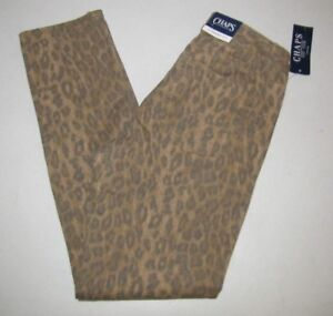 Brown Slimming 30 size Slim Print New Chaps Brown 30 8 Femmes Slim Chaps Stretch Fit New Slimming Jeans 8 size Womens' Fit Stretch Print Jeans FzSpqwFZx