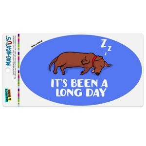 It-039-s-Been-A-Long-Day-Dog-Dachshund-Car-Euro-Oval-Magnet