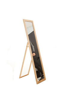 Full Length Dressing Floor Mirror Wooden Rectangular Wood Adjustable ...