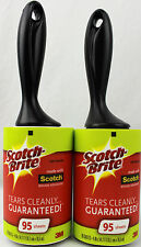 New 2 Scotch Brite Lint Roller Remover 3M For Pet Hair Car Clothes, 190 Sheets