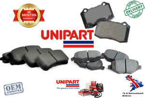 Genuine Unipart Front Brake Pads FIAT 500 312 1.4 1.3 D 2007-2019 9949273
