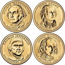 2007 US P or D Unc Presidential Dollar Coin Set