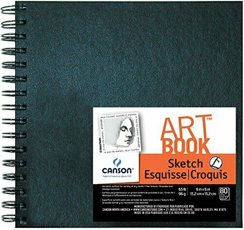 65 lb 80 Sheets Canson Wire Binding Acid-Free Field Sketchbook 7 X 10 in