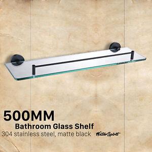 Wondrous Bathroom Shower Single Glass Shelf Storage Holder Black Download Free Architecture Designs Scobabritishbridgeorg