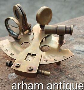 "Nautical Ship Instrument Astrolabe Marine Vintage Brass Maritime Sextant 5/"" Gift"