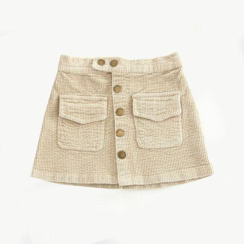2019 New Arrival Girls Skirts Autumn Winter Children Buttons Clothes Kids