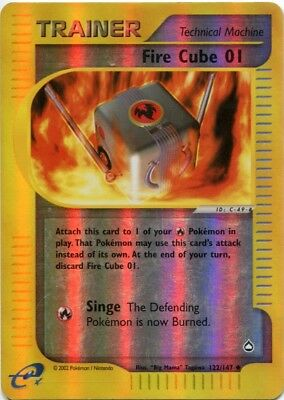 Pokemon Aquapolis Uncommon Card #121//147 Fighting Cube 01