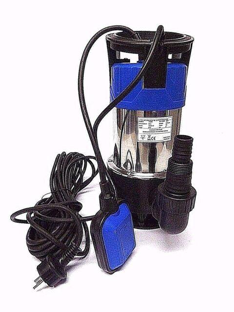 Flachsaugende Pumpe Flachsaugpumpe INOX Teichpumpe 1100Watt Edelstahl Tauchpumpe