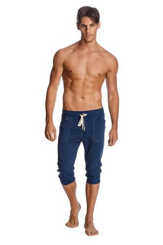 Cuffed Yoga Pants Solid Royal Blue