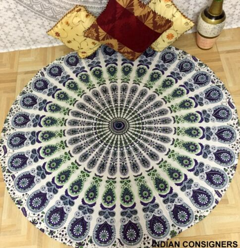 Tapestry Round Beach Yoga Mat Picnic Throw Cotton Towel Indian Roundie Hippie