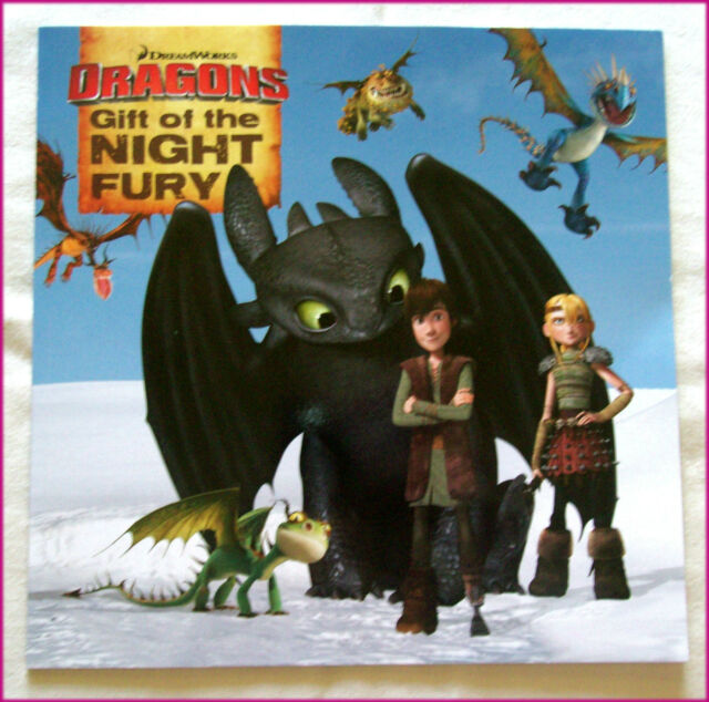 DRAGONS - Gift of the Night Fury Story BOOK - TOOTHLESS HICCUP full colour NEW