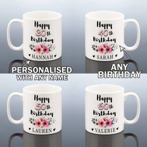 30 40 50 70 75 80 Birthday Mug Personalised Cup Birthday Gift Her