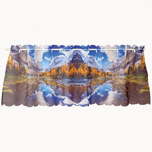 Disques Rideau Bistro Rideau montagne avec lac tendre voile impression photo 45x145 cm