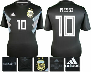 huge discount 7b4c1 3bd0e Details about MESSI 10 - ARGENTINA AWAY 2018 WORLD CUP ADIDAS SHIRT SS =  ADULTS