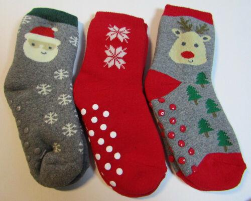 Baby Socken Gummierte Stopper 3 Paar GR.21-23 Weihnachten  NEU mit Etikett