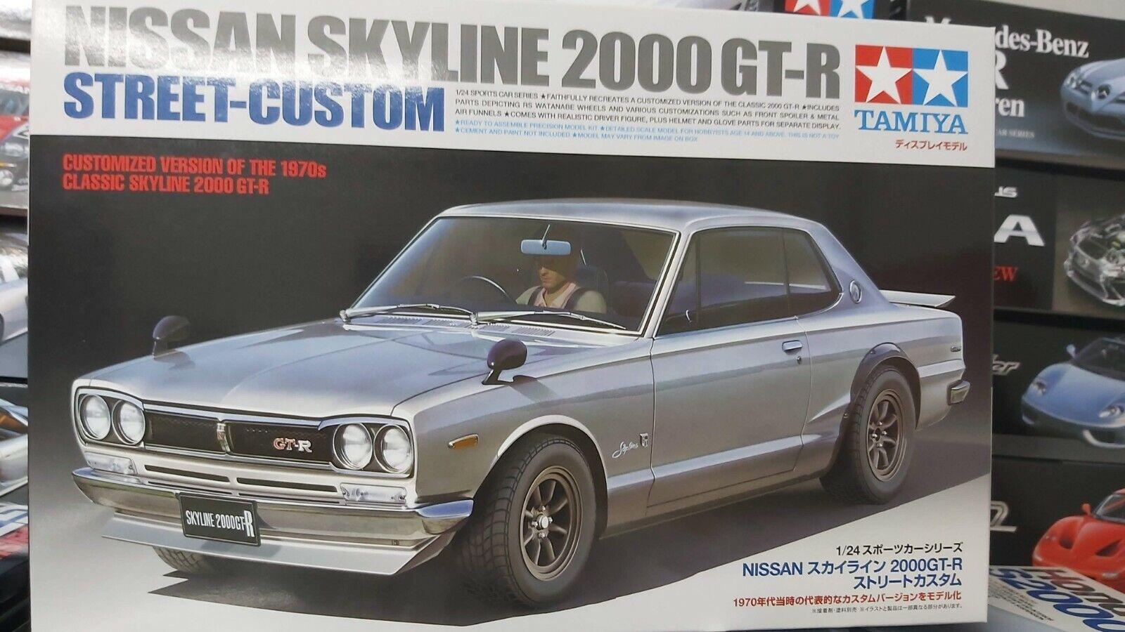 Tamiya Nissan Skyline 2000 GT-R Street Custom Car Model Set Scale 1:24 24335 New