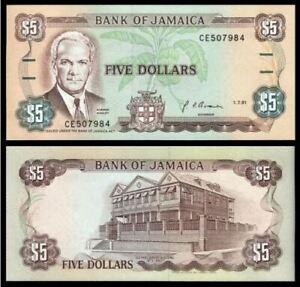 Jamaica-5-Dollars-1991-UNC-5-1991-CE504908
