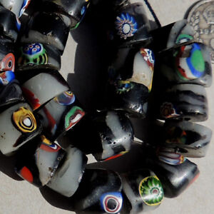 26-old-antique-venetian-cylindrical-millefiori-african-trade-beads-4726