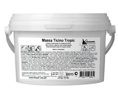 Sonnig Massa Ticino Tropic Fondant 2,5 Kg Eimer Bride White Weiß Rollfondant