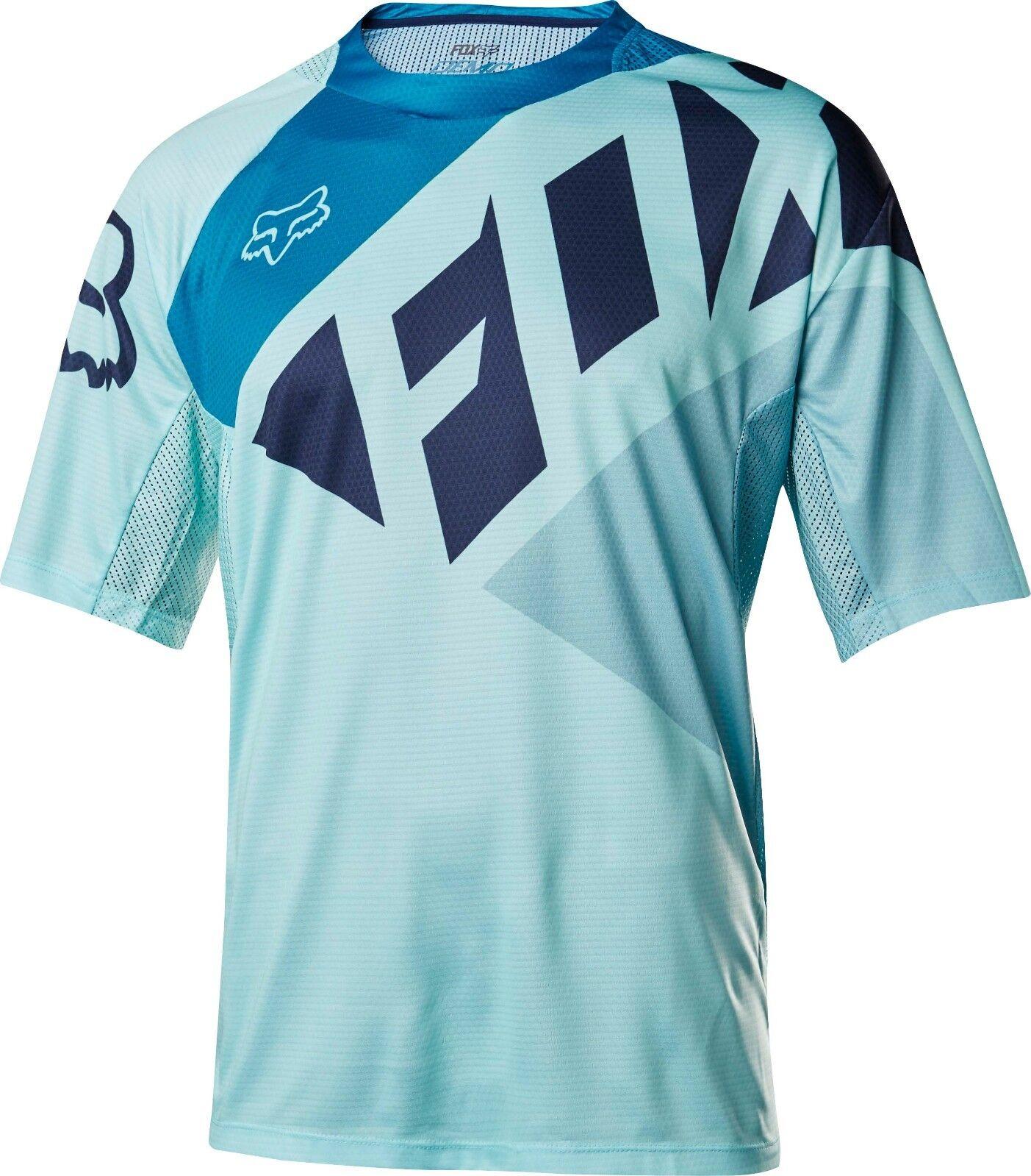 Fox Racing Demo s s Seca Jersey Ice Blau