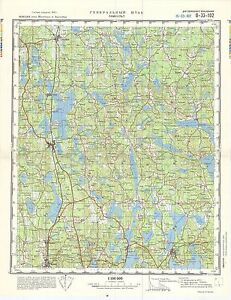 Russian Soviet Military Topographic Maps LAMMHULT Sweden 1100