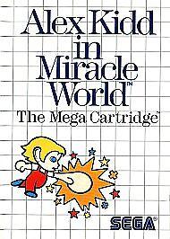 Vintage 1990 90s Sega Master System Alex Kidd in Shinobi World Action Cartridge Game Pal