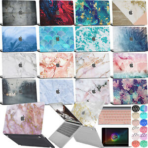 New-Marble-Logo-Cut-Laptop-Cover-Rubberized-Hard-case-For-Macbook-Pro-13-034-Retina