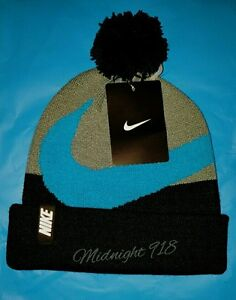 cheaper b9ad2 ccff4 Image is loading NIKE-BEANIE-UNISEX-YOUTH-ADULT-WINTER-POM-HAT-