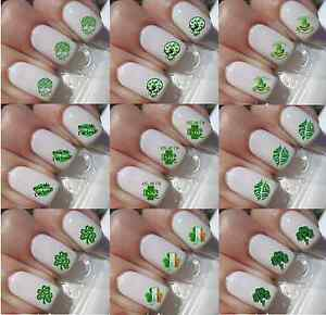Irish Skull St Patricks Day Shamrock Kiss Nail Art Decals Sticker