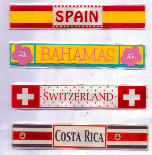 COUNTRY Stickers~Several Varieties~Lot of 2~ Really Cute /& useful!!
