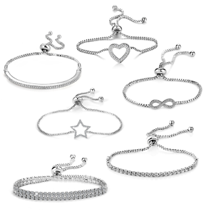 Silver-Friendship-Bracelets-Created-with-Swarovski-Crystals