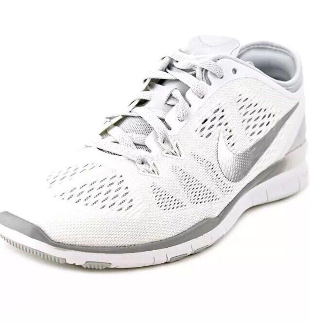 Nike Women's Size 12 Free 5.0 TR Fit 5 White Metallic Silver New In Box