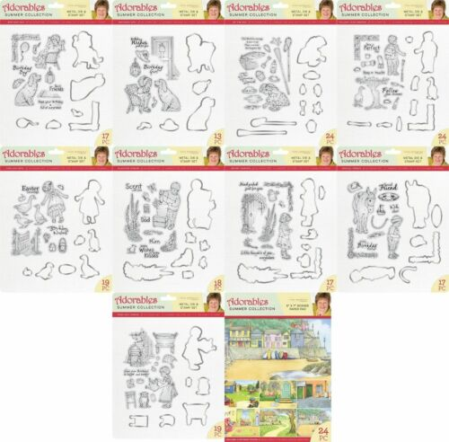 Adorables Summer Die /& Stamp Collection Jayne Nestorenko Crafters Companion