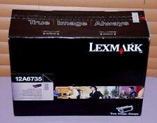 Genuine Lexmark 12A6735 Black High Yield Print Cartridge T520/X520 -- New Sealed