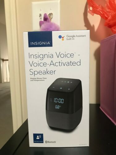 Smart Bluetooth Speaker and Alarm Clock with the Google Assistant Insignia
