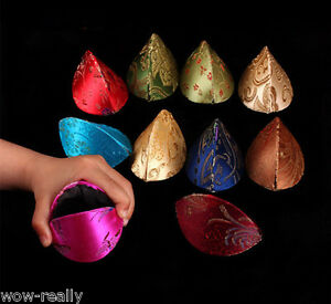 10pc chinese style silk fortune cookie coin purse colorful for Fortune cookie jewelry box