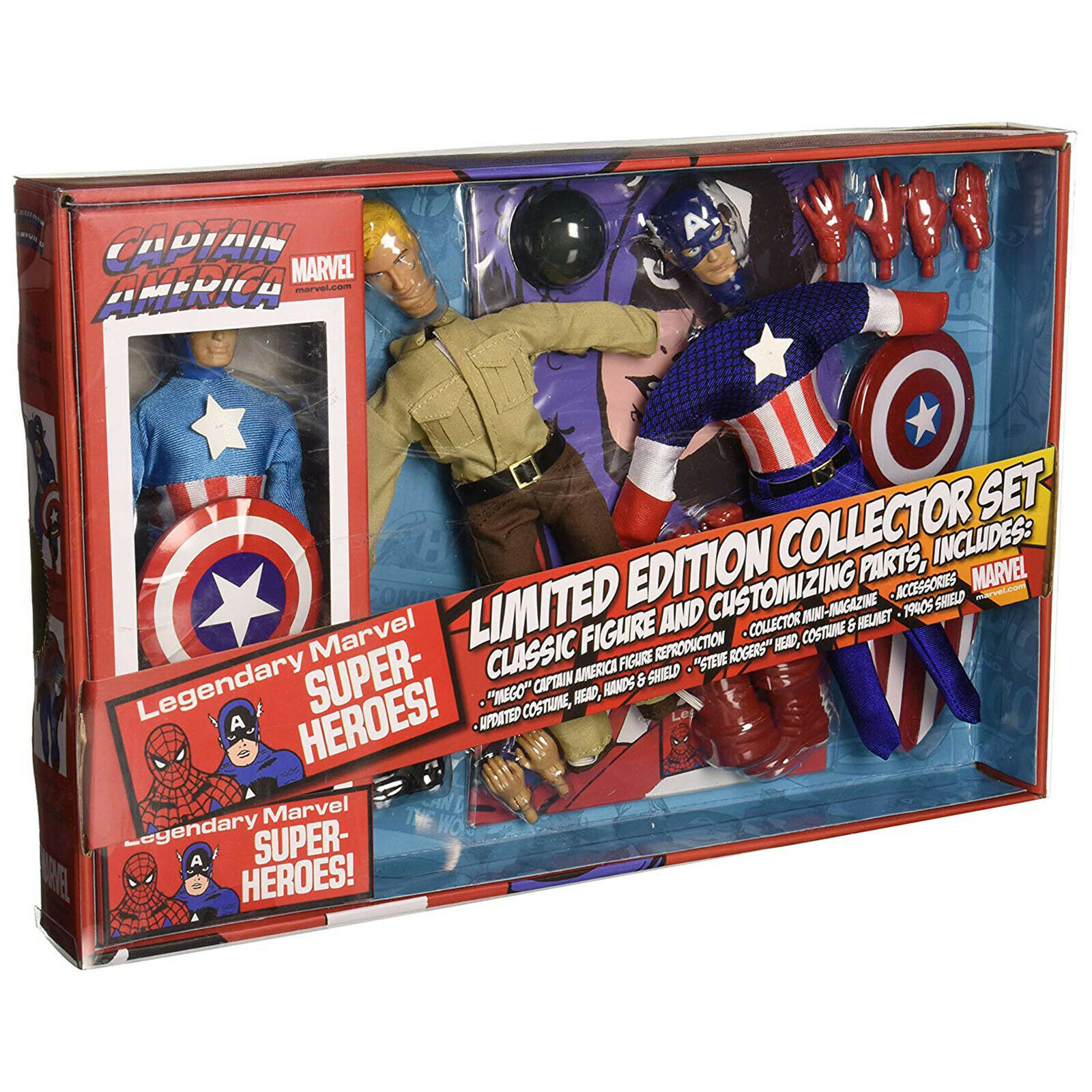 Diamond Select Captain America Limited Edition Collector Set NEW NEW NEW Collectibles ae7824
