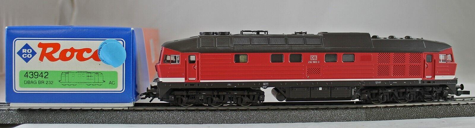 Roco 43942 Locomotora Diésel Br 232 de la DB Ag de Colección con Ovp AC Digital