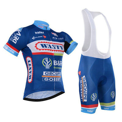 KJU313 Mens Outfits MTB Cycling Short Sleeve Jersey and bib Shorts Lycra