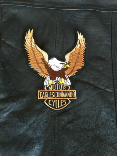 Biker Patch Eagles Commando Motorcycles XL Back Patch tonaca Gilet Chopper MC
