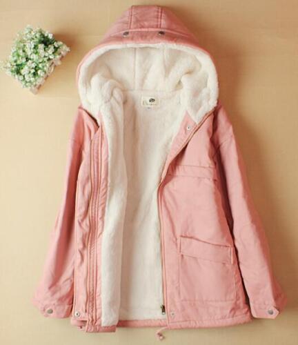 capuche d'hiver Veste à polaire en pour laine Parka femmes laine en Outwear doublée qZEHnCEwxR