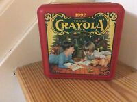 Vintage Crayola Crayon Tin With Crayons 1992 Shrink Wrapped