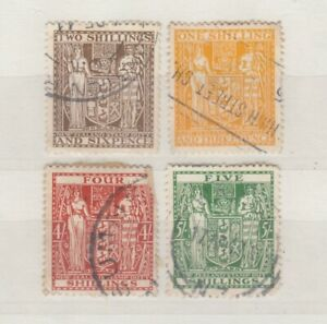 New-Zealand-Arms-Fiscal-Collection-Of-4-VFU-JK1527