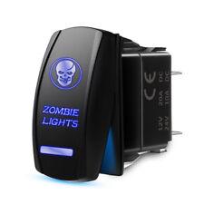 Mictuning 5 Pin Laser Rocker Switch Skull Blue Led On Off Universal 20a 12v Car