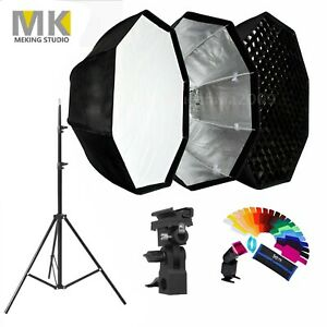 Meking-80cm-Octagon-Umbrella-Softbox-Honeycomb-Grid-Light-Stand-Lighting-Kit