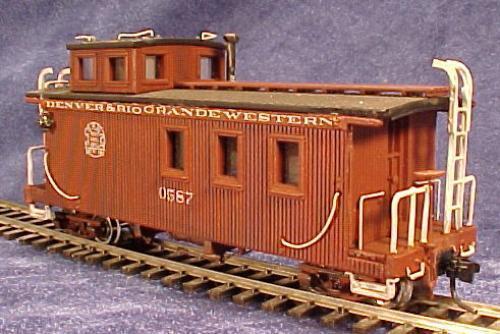 D/&RGW also narrow gauge HOn3 RGS 0404 Long Caboose Kit, MRGS KIT# 400 .