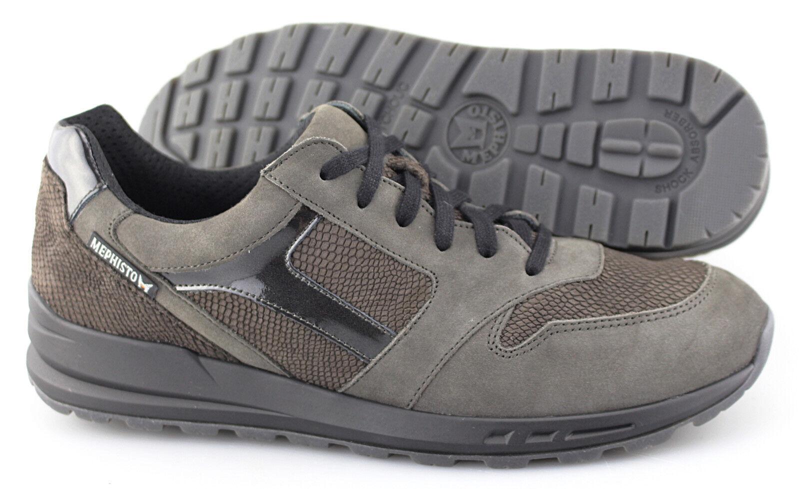Women's MEPHISTO 'Cross' Grey Bucksoft Leather Sneakers Size US 11