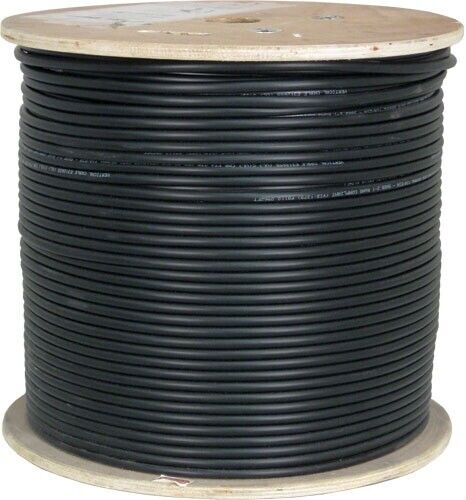 250FT CAT6A 10G DIRECT BURIAL SHIELDED 23AWG BLACK Cable