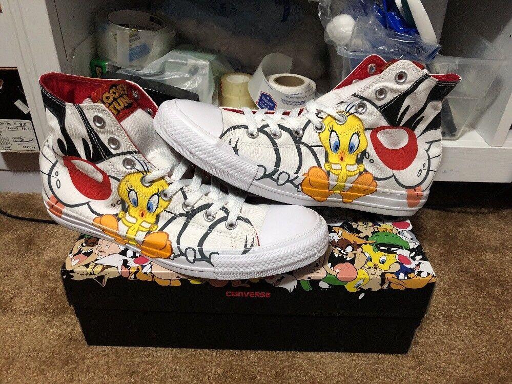 New Converse Chuck Taylor All-star Hi Looney Tunes Tweety Bird Sylvester Sz 11.5